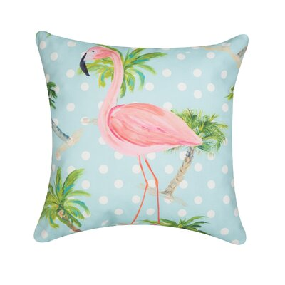 Quinault Palm Beach Flamingo Indoor/Outdoor Throw Pillow