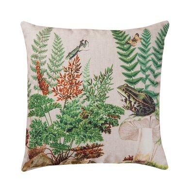 Hibbs Fern & Frog Indoor/Outdoor Throw Pillow