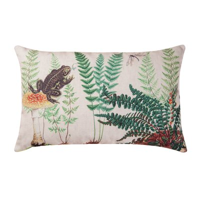Hickerson Fern & Frog Indoor/Outdoor Lumbar Pillow
