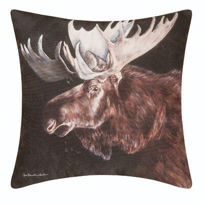 Novello Moose Indoor/Outdoor Throw Pillow