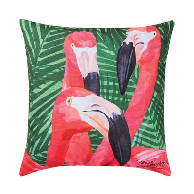 Osgood Flamingos Indoor/Outdoor Throw Pillow