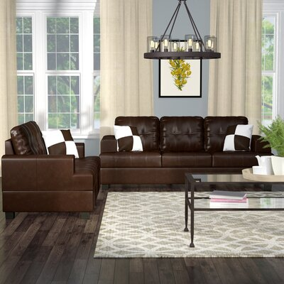 Wamsutter 5 Piece Living Room Set Upholstery: Espresso