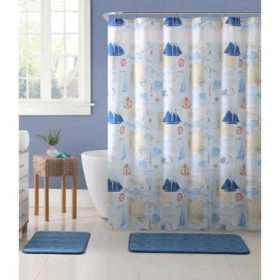 Crossen Adventure at Sea Nautical 15 Piece Shower Curtain Set