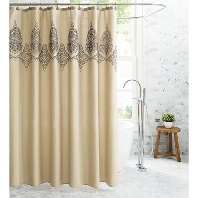 Demaio Embroidered Damask 13 Piece Shower Curtain Set