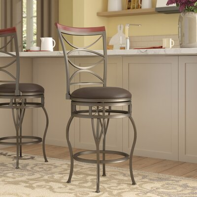 Varian 24 Swivel Bar Stool Upholstery: Espresso