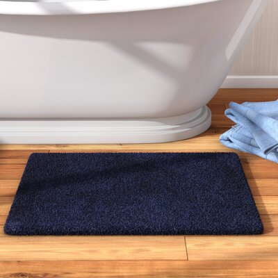 Berrywood Tufted Bath Rug Size: 17 W x 24 L, Color: Navy