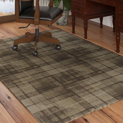 Calderon Twill Wool Natural Area Rug Rug Size: Rectangle 53 x 77