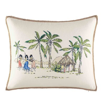 Atwell On The Beach Breakfast 100% Cotton Lumbar Pillow