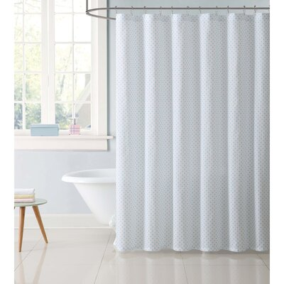 Dupree Everyday Dot Shower Curtain Color: Aqua