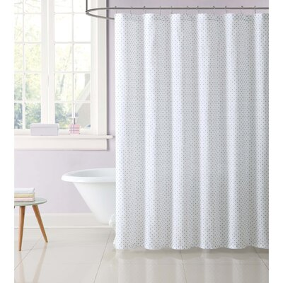 Dupree Everyday Dot Shower Curtain Color: Gray