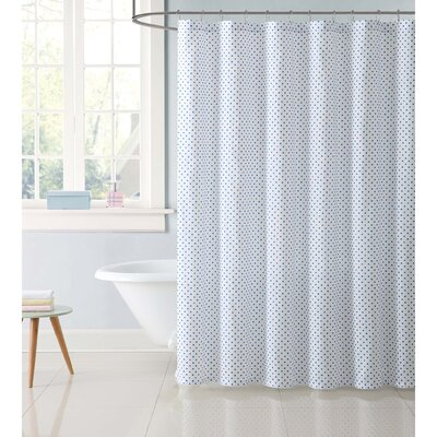 Dupree Everyday Dot Shower Curtain Color: Blue