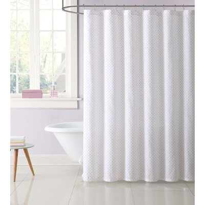 Dupree Everyday Dot Shower Curtain Color: Pink