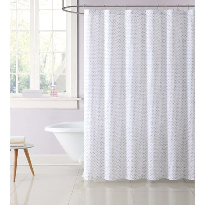 Dupree Everyday Dot Shower Curtain Color: Purple