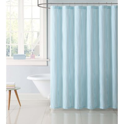 Dupree Everyday Stripe Shower Curtain Color: Aqua