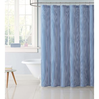 Dupree Everyday Stripe Shower Curtain Color: Blue