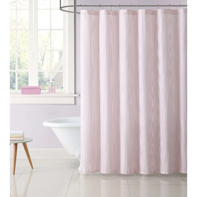 Dupree Everyday Stripe Shower Curtain Color: Pink