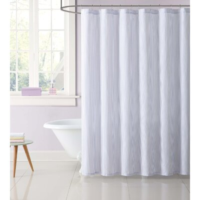 Dunnam Kids Stripe Shower Curtain Color: Purple