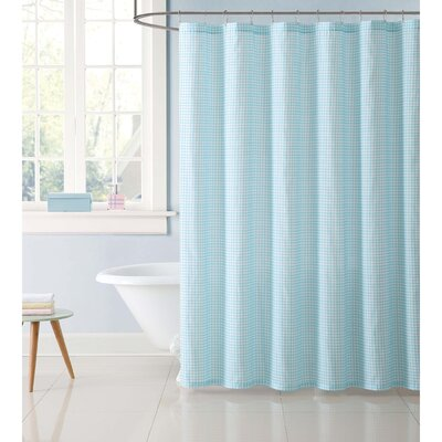 Dupree Everyday Gingham Shower Curtain Color: Aqua