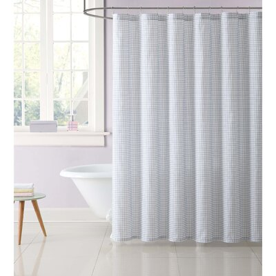 Duell Kids Gingham Shower Curtain Color: Gray