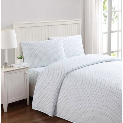 Kittleson Everyday Dot Microfiber Sheet Set Size: Full, Color: Aqua