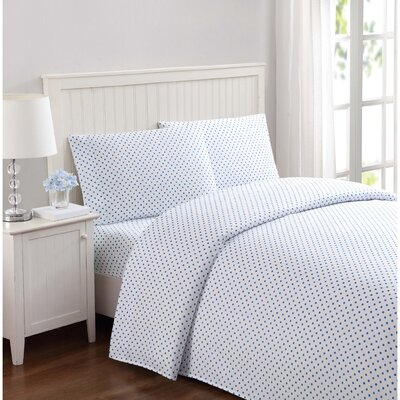 Dunnigan Kids Dot Microfiber Sheet Set Size: Full, Color: Blue