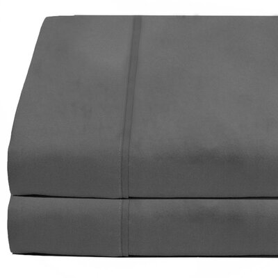 Cotta Flat Microfiber Sheet Set Size: King, Color: Gray