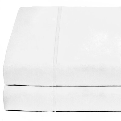 Cotta Flat Microfiber Sheet Set Size: Full, Color: White