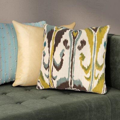 Wittmer Cotton Throw Pillow Color: Rain