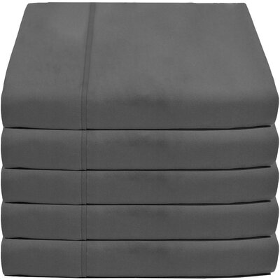 Crespo Flat Top 5 Piece Microfiber Sheet Set Size: Twin/Twin XL, Color: Gray