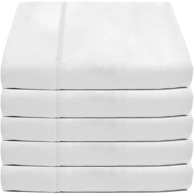 Crespo Flat Top 5 Piece Microfiber Sheet Set Size: King, Color: White
