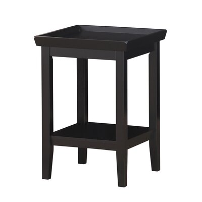 Wallenstein End Table Color: Black