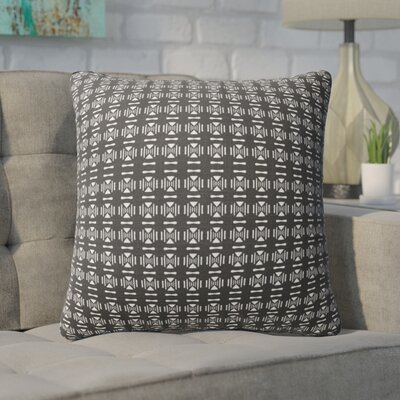 Beringer Throw Pillow Color: White/Black, Size: 16 H x 16 W