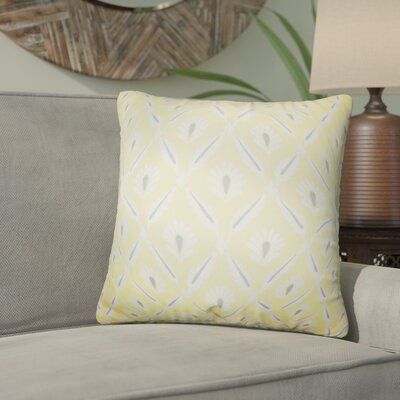 Skinner Geometric Cotton Throw Pillow Color: Yellow