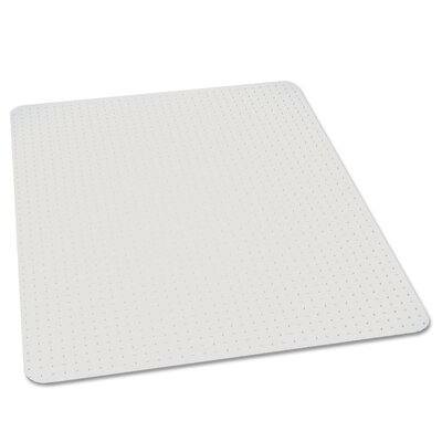 High Pile Carpet Beveled Chair Mat Rectangle Image 835