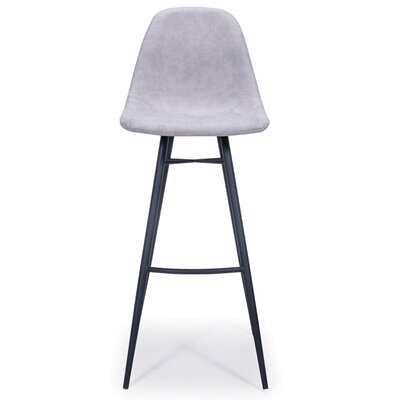 Lillianna Bar Stool Upholstery: Light Gray