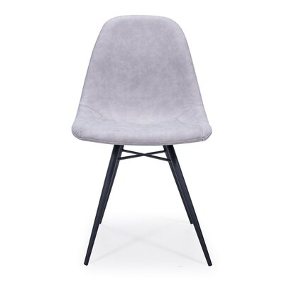 Lillianna Upholstered Dining Chair (Set of 2) Upholstery Color: Light Gray