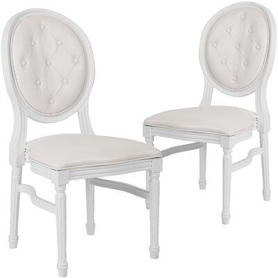 Komar Upholstered Dining Chair Upholstery Color: White, Frame Color: White