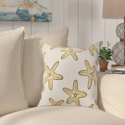 Cedarville Soft Starfish Geometric Print Throw Pillow Size: 18 H x 18 W, Color: Gold
