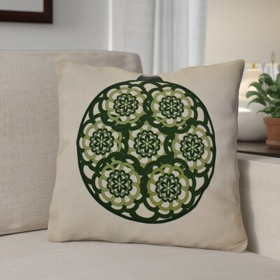 Christmas Decorative Holiday Geometric Print Throw Pillow Size: 18 H x 18 W, Color: Dark Green