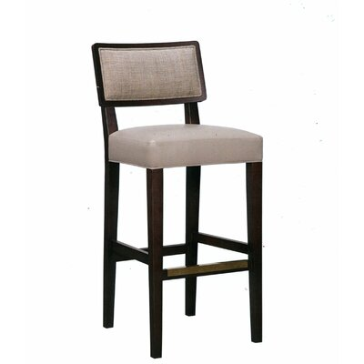 30 Bar Stool Upholstery Color: Howdy Taupe, Frame Color: Wild Cherry