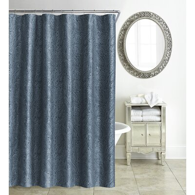 Esmerelda Shower Curtain Color: Indigo