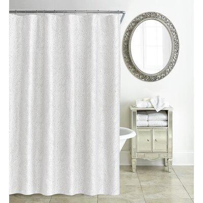 Esmerelda Shower Curtain Color: White
