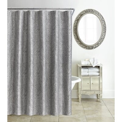 Esmerelda Shower Curtain Color: Platinum