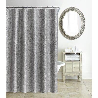 Esmerelda Shower Curtain Color: Platinum