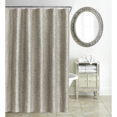 Esmerelda Shower Curtain Color: Taupe