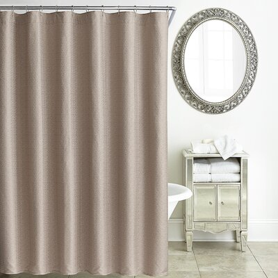 Tory Shower Curtain Color: Rose Gold
