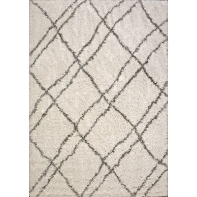 Tryon Ivory/Gray Area Rug Rug Size: Rectangle 53 x 77