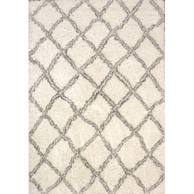 Tryon White/Silver Area Rug Rug Size: Rectangle 75 x 106