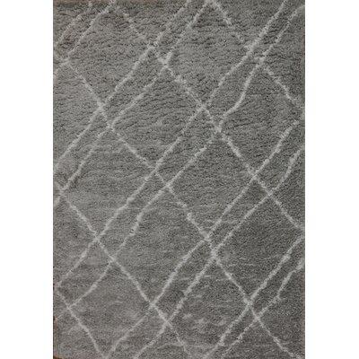 Tryon Gray Area Rug Rug Size: Rectangle 75 x 106