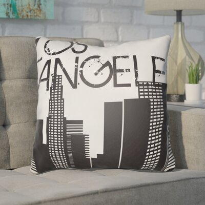 Bainum Los Angeles Throw Pillow Size: 20 H x 20 W x 4 D